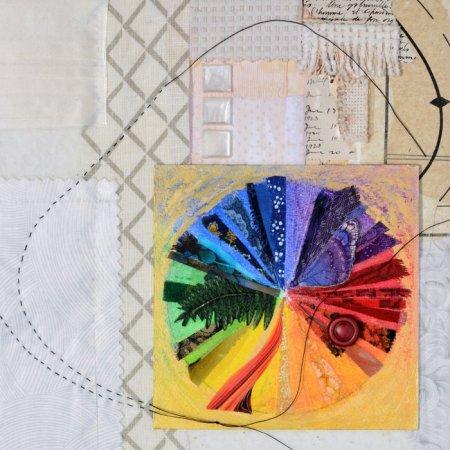 """quilt/felt"" textile collage  poetryCollage"